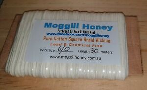 Candle wicking - 30 metres of 6/0 square braided cotton, suit beeswax