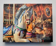 NEW Merrigold Press 500 Piece Puzzle Colorful Carousel Horses