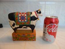 Jim Shore Enesco cow figure folk art swedish holstien 2003 grand tradition