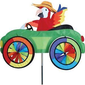 Parrot in a Car Spinner, Whirligig, Garden Stake by Premier Design