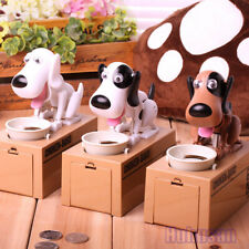 Choken Bako Greedy Dog Mechanical Robotic Kid Coin Money Saving Box Kid's Gift