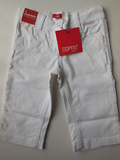 ESPRIT Toddler Girl White Cotton 3/4 Pants Jeans Size 3 NEW RRP $39.95
