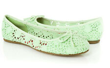NEW green crochet  BALLERINA BALLET FLAT LOAFER MOCCASIN SHOES sandals Size 7