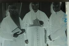 (2) B&W Press Photo Negative Men Vestmen Cross Necklace Long Beard Man Book T235