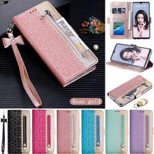 Zipper Wallet Leather Flip Case Cover For Huawei Y7 2019 P30 P40 Y5 2019 Nova 5T