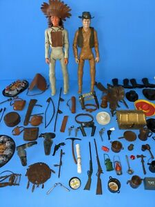 Vintage Marx Johnny West & Geronimo Cowboy Action Figure With Accessories (A3)
