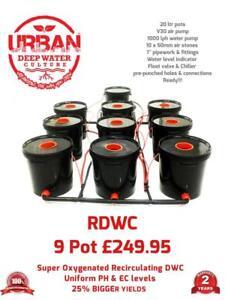 20L 9 Pot Deep Water Culture RDWC Hydroponic Bubbler System Alien IWS Auto DWC