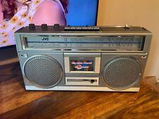 More details for vintage retro jvc rc-555lb stereo radio cassette recorder ghetto blaster