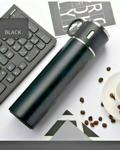 Thermos Bottle Coffee Travel Mug Vacuum Insulated Stainless Leakproof Black