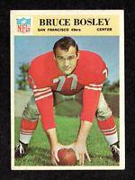 "1966 Philadelphia #172 Bruce Bosley San Francisco 49ers Football Card ""mrp EX+"