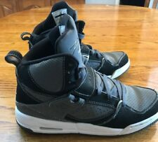 Jordan Flight 45 GS Youth 7 Black/Grey/White Good Used With Some Wear