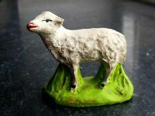 Santon en terre cuite peint Fouque - Mouton Droit 6 cm