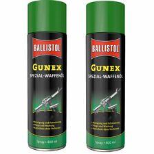 (38,61€/1l) BALLISTOL 2 Stück 400 ml Gunex Spezial-Waffenöl Spray  Waffenpflege