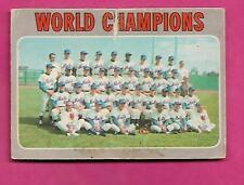 RARE 1970 OPC # 1 METS WORLD CHAMPIONS CREASED CARD (INV# J0328)