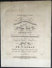 Charles-Valentin ALKAN (Composer): Signed Title Page to Joseph ZIMMERMANN