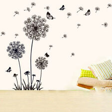 Huge The sky dandelion Butterfly Wall Stickers Decals Vinyl Home Decor Removable