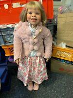 Pamela Erff Vinyl Künstlerpuppe Puppe 88 cm. Top Zustand
