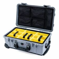 Silver & Black 1510 case with yellow dividers & mesh lid organizer.