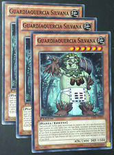 Set 3X GUARDIAQUERCIA SILVANA LVAL-IT019 Comune in Italiano YUGIOH