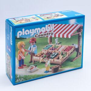 Playmobil 6121 - Country  Marktstand Gemüsestand mit Zubehör 54 Teilig NEU / OVP