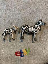 Schleich Zebra Stallion & Foal Retired Animal Figures