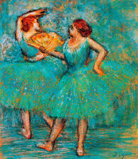Two Dancers c1905 by Edgar Degas A1+ High Quality Canvas Print