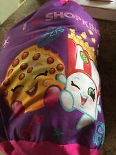 Shopkins Sleeping Reversible Slumber Bag For Kids pink/purple.& Carry Sack