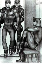 tof 28 Tom of Finland 1965 postcard  locker room