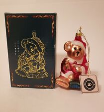 Boyds Glass Smith Collection Glass Teddy Bear Ornament 87-98 in Original Box