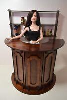 "BAR furniture for Dolls Tonner Cami 16-18"" wood BAR PUB RESTAURANT round table"