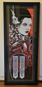 QUEENS OF THE STONE AGE NINE INCH NAILS SYDNEY 2014 CUSTOM FRAMED POSTER ART