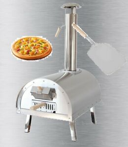 Portable Stainless Steel Stone Pizza Oven Folding Legs Wood Pellets / Charcoal