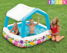INTEX Kids The Sun Shade Pool Comes With An Inflatable Removable Shade