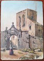 Huile sur panneau cartonné fin 19 début 20ème, école espagnole, 52x38 cm