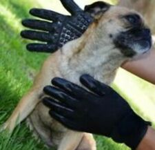Pair Pet Grooming Gloves for use deshedding Bathing Grooming De-Shed Lg