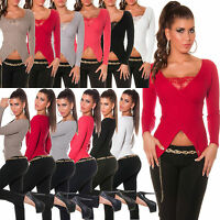 New Sexy Women Pullover Ladies Jumper Top Blouse Size 6 8 10 12 Shirt Sweater S
