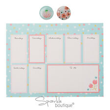 Semanal Planificador Bloc de notas & Imanes-Almohadilla de planificación de comidas/doble como ratón MAT/Regalo