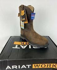 Ariat Men's Waterproof, Carbon Toe, E.H. XT Patriot  H2O Work Boots Sz 9.5 Brown