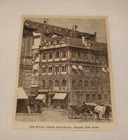 1887 magazine engraving ~ PHILIPPINA WELSER'S BIRTHPLACE, Germany