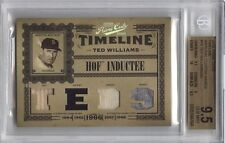 2005 Prime Cuts TED WILLIAMS Timeline Material /50 *Red Sox* BGS 9.5