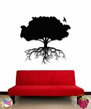 Wall Stickers Vinyl Decal Tree Roots Branches Birds Floral Decor (z1721)