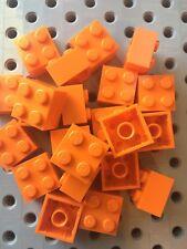 Lego 2x2 Orange Brick Blocks 2 X 2 New Lot Of 25