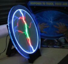 """12"""" Tricolor Tesla Plasma Plate Disk Lamp Party Light - Voice Activated - NEW"""