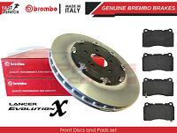 FOR MITSUBISHI LANCER EVO X 10 FRONT BREMBO 2 PIECE BRAKE DISCS & PADS SET 350mm