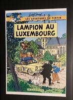 Les aventures de Tintin poster pour pastiche. Lampion au Luxembourg Harry Edwood