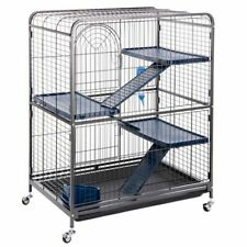 Small Rodent Rat Ferret Cage Chinchilla House Pet Home Safety Metal Wheeled