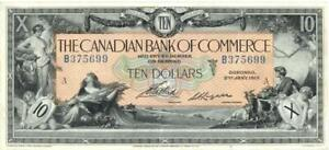 Canada $10 Dollars Canadian Bank Commerce Banknote 1917