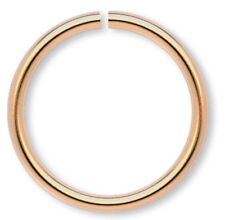 100 Gold Plated Brass 12mm Round 18 Gauge Jump Rings