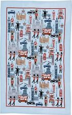 ICONIC BRITAIN Linen Tea Towel ULSTER WEAVERS Post Worldwide BNWT 1st quality