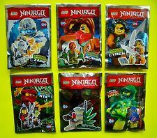 6x LEGO NINJAGO NINJA Ronin NINJA Zane Nya Ming spirito Cyren LIMITED EDITION OVP